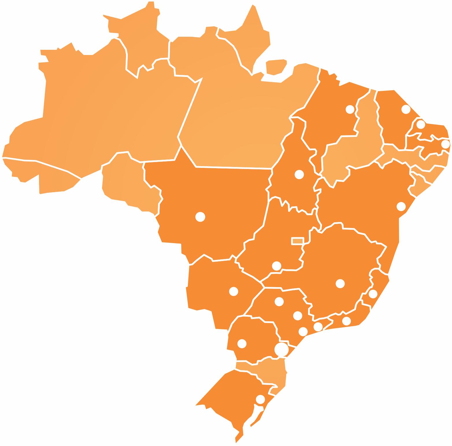 Mapa de Atuação GRECA Asfaltos